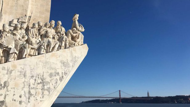 Entdeckerdenkmal Lissabon. Reisebericht-Reiseblog Lissabon im Winter, Januar