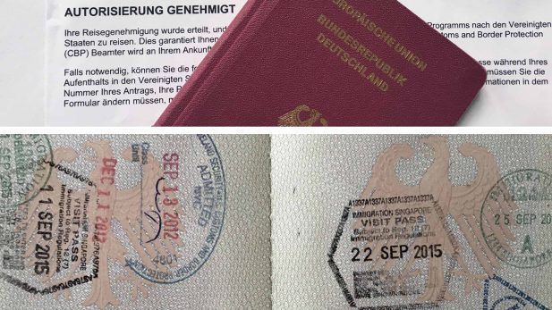Bild mit Reisepass - 0 oder o in der Reisepassnummer