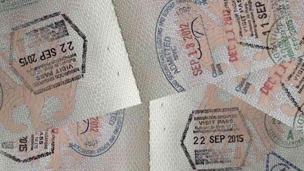 Bild vom Reisepass mit Stempel - Visum