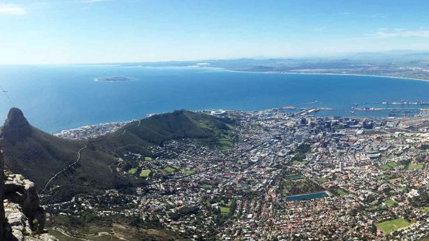 Panorama Bild vom tafelberg Kapstadt Südafrika mit Reisebericht