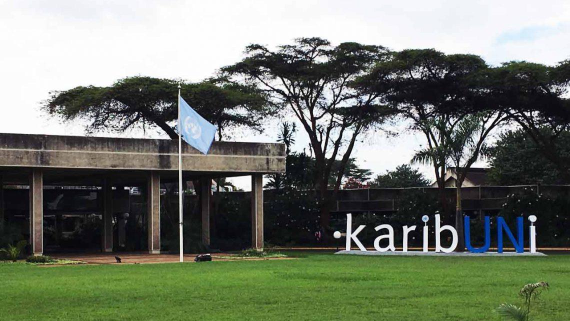 haupteingang vom un-headquarter tour in nairobi-reiseblog