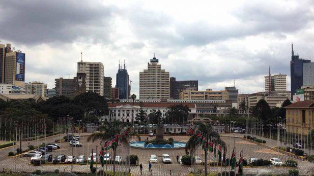 Panorama Nairobi KICC Kenia - Reisebericht auf dem Reiseblog detailjaeger